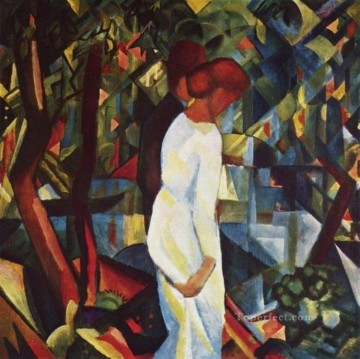 Couple In The Forest August Macke Oil Paintings